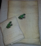 FROG PERSONALISED TOWEL SET